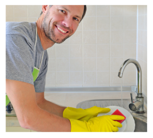 Smiling-Man-Doing-Dishes